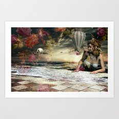 Skyfall in the Garden of Eden Art Print