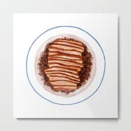 Braised streaky pork with preserved vegetables   梅干菜烧肉 Metal Print