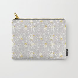 Holiday Floral Grey  #holiday #Christmas Carry-All Pouch