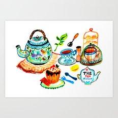 the tea room Art Print