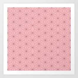 Nezuko Pattern Art Print