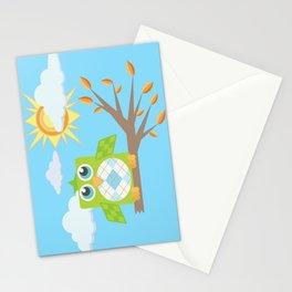 Daytime Owl Stationery Cards