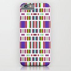 Retro Bar Pattern iPhone 6s Slim Case