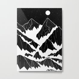 The snow bottom mountains Metal Print