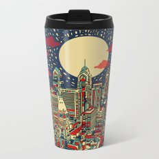philadelphia city skyline Metal Travel Mug