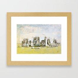 Stonehenge, England Framed Art Print