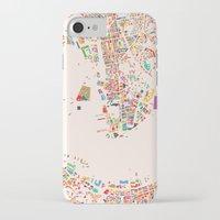 hong kong iPhone & iPod Cases featuring Hong Kong by Maps Factory