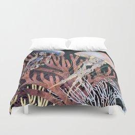 Metallic Coral Duvet Cover
