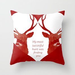 Stag love Throw Pillow