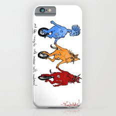 unite! and ride unicycles with unicorns with unibrows! Slim Case iPhone 6s