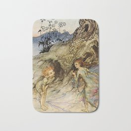 """Puck and a Fairy"" by Arthur Rackham Bath Mat"