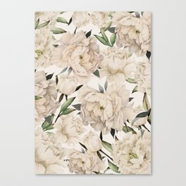 Peonies Pattern Canvas Print