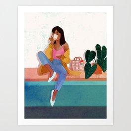 Cafecito Art Print
