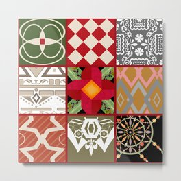 National ethnic patchwork . Metal Print