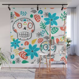 Summer sugar skulls Wall Mural