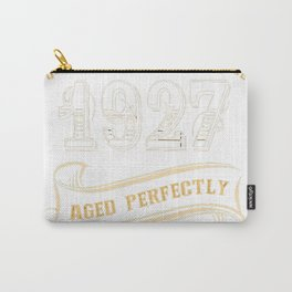 90th-Birthday-Gift-Gold-Vintage-1927-Aged-Perfectly Carry-All Pouch