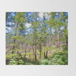 Tree Blur Throw Blanket