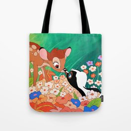 Bambi and Flower Tote Bag