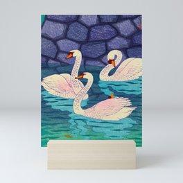 Spring At The Moat Kasamatsu Shiro Japanese Woodblock Painting Asian Beautiful Ink Cultural Historic Mini Art Print
