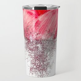 Heart painted from tangle of scribbles Travel Mug