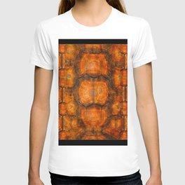 TEXTURED NATURAL ORGANIC TURTLE SHELL PATTERN T-shirt