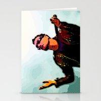 u2 Stationery Cards featuring U2 / Bono 2 by JR van Kampen