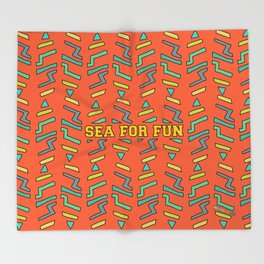 Sea for fun (red) Throw Blanket