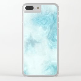 Iced Marble Clear iPhone Case