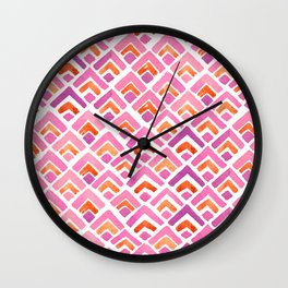 Sewatdee Pink Pattern Wall Clock
