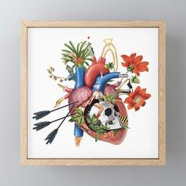 Riding wild felings Framed Mini Art Print