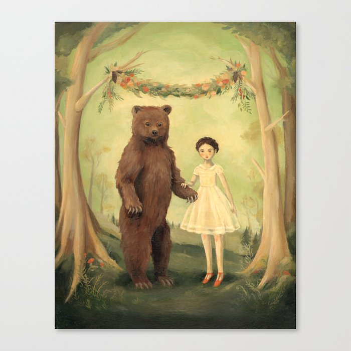 In the Spring, She Married a Bear Leinwanddruck