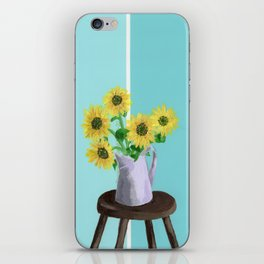 Sunflowers on Blues iPhone Skin