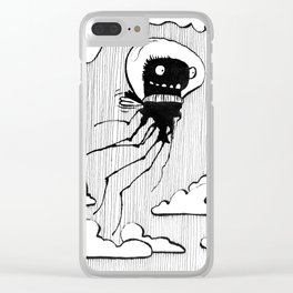 Flying squid – Seppiolina volante Clear iPhone Case