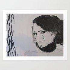 Emme - the Pale Queen Art Print