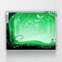 Dark Forest at Dawn in Emerald Laptop & iPad Skin