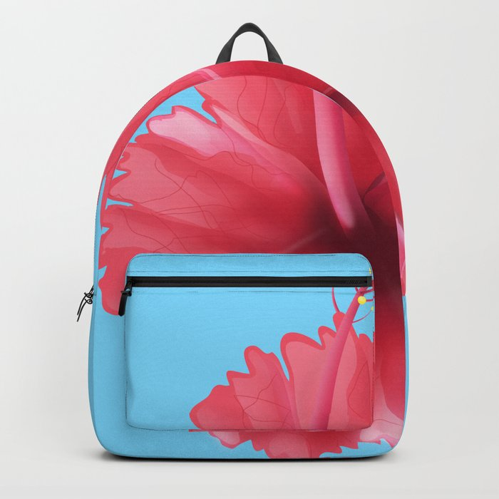 Puerto Rican Hibiscus Flower Print Backpack By Nicholasgreen Society6