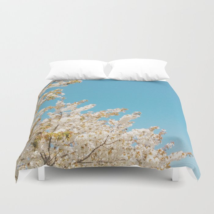 Wave of Flowers Duvet Cover