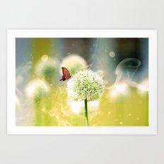 Allium fantasy flowers Art Print