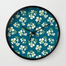 One Flower Wall Clock