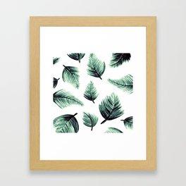 Danae-Leaves in the air Framed Art Print