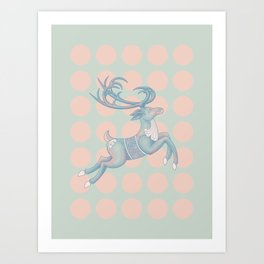 Reindeer n' Dots Art Print