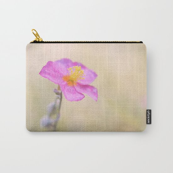 Lovely pink flower against backlit Carry-All Pouch