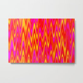 WAVY #1 (Reds, Oranges, Yellows & Fuchsias) Metal Print