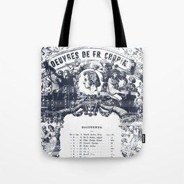 Frederick Chopin Nocturne art Tote Bag