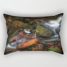 Colours of Autumn in a Brecon stream Rectangular Pillow