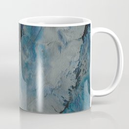 Silver Scape, abstract poured acrylic Coffee Mug