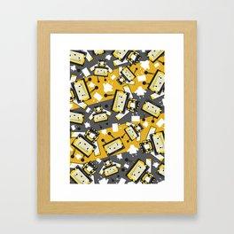 Cute Cartoon Blockimals Bee Framed Art Print