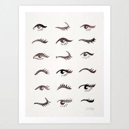 Mascara Envy – Black Palette Art Print
