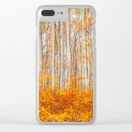 Golden Autumn Forest (Color) Clear iPhone Case