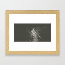 Dark trails Framed Art Print